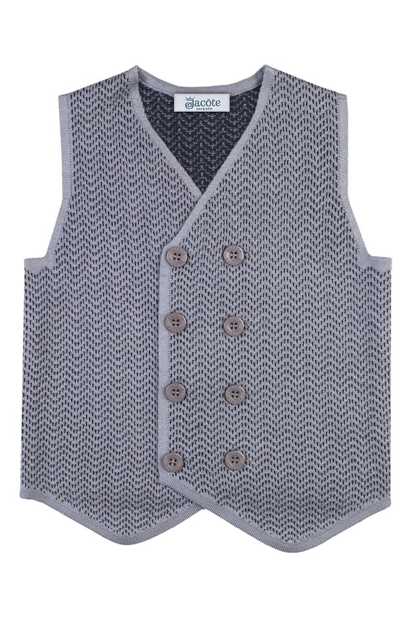 Серый жилет из текстурированного джерси от Jacote