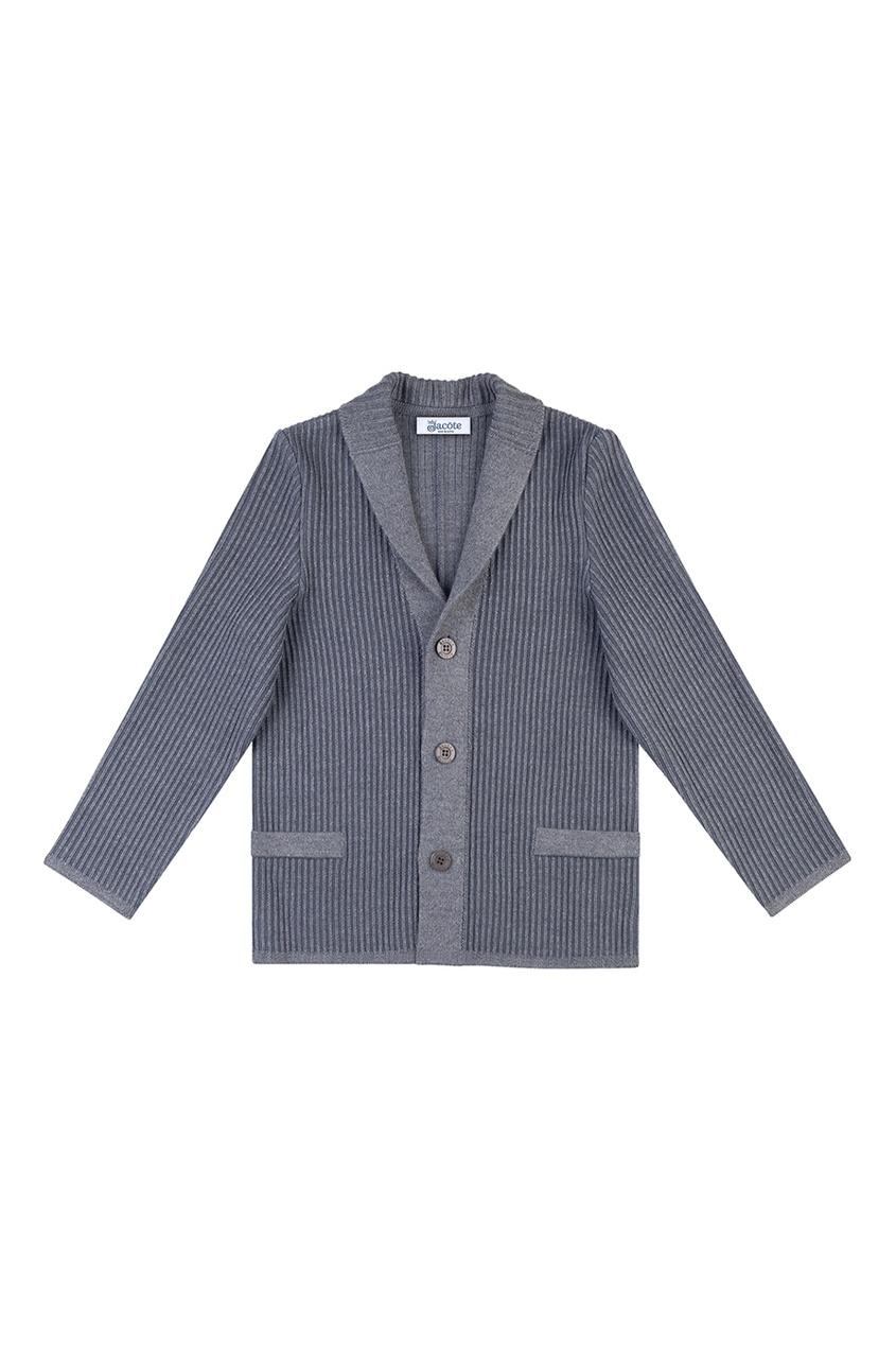 Серый пиджак из текстурированного джерси от Jacote