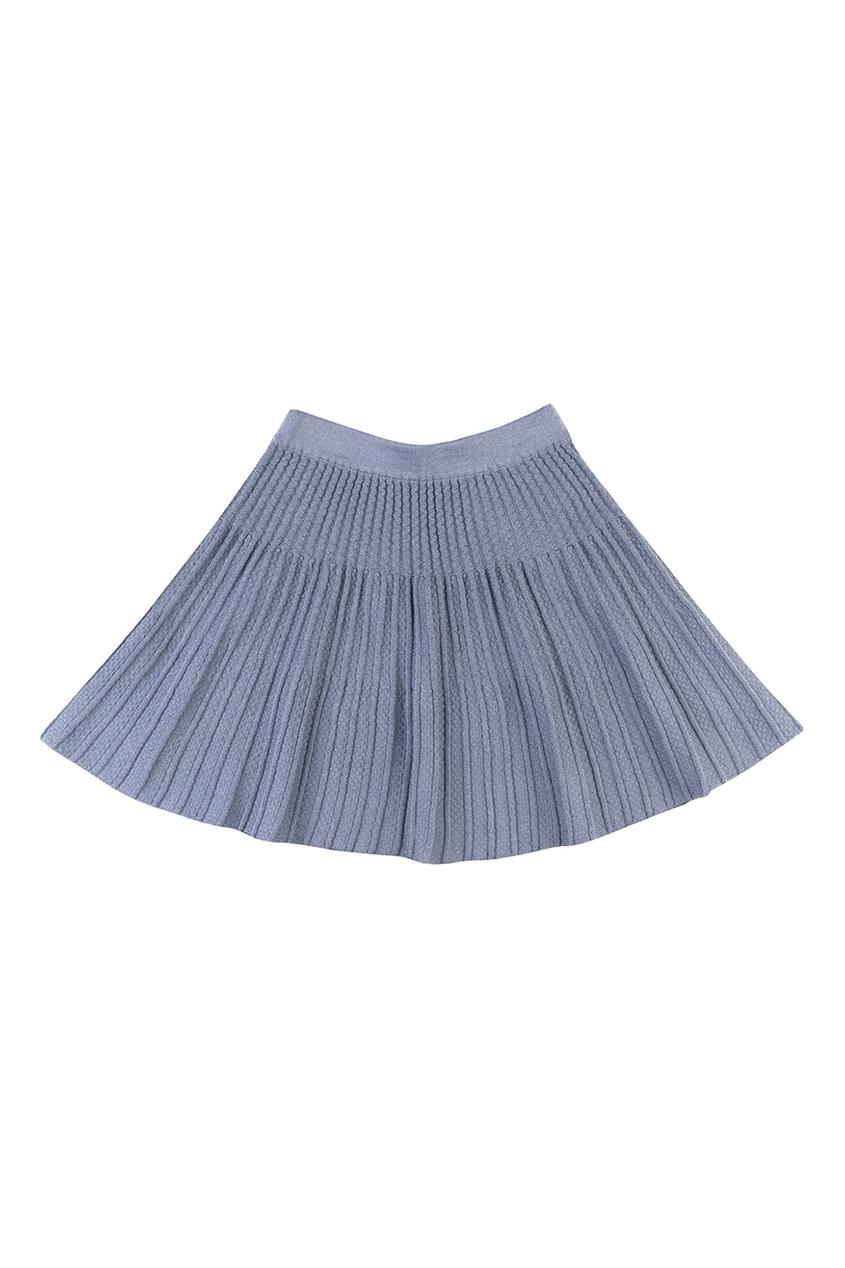 Серая трикотажная юбка
