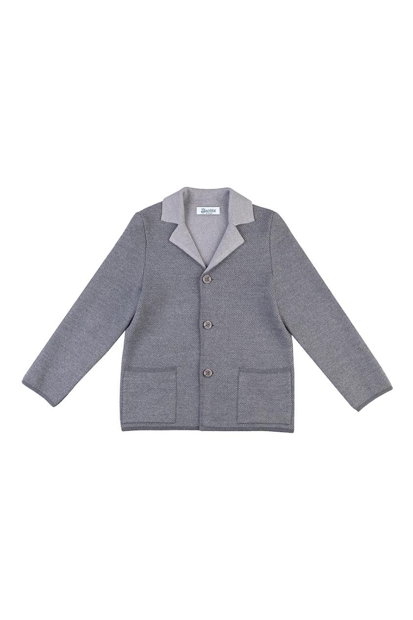 Серый пиджак из полушерстяного трикотажа от Jacote