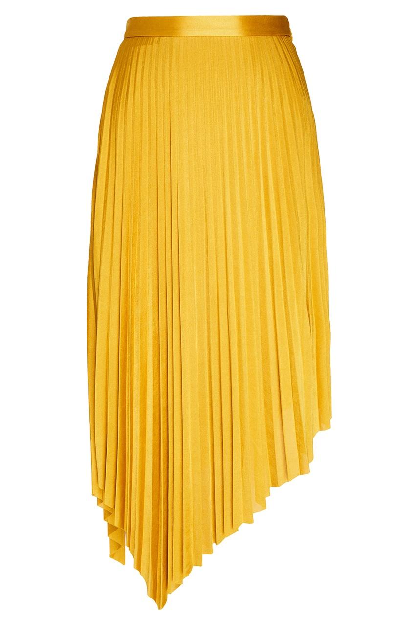 MO&Co Желтая плиссированная юбка юбка mo