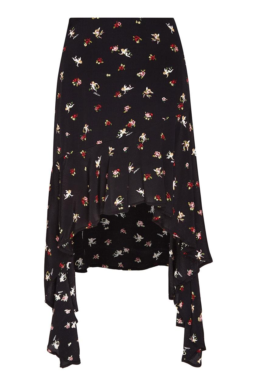 MO&Co Юбка с асимметричным подолом юбка mo