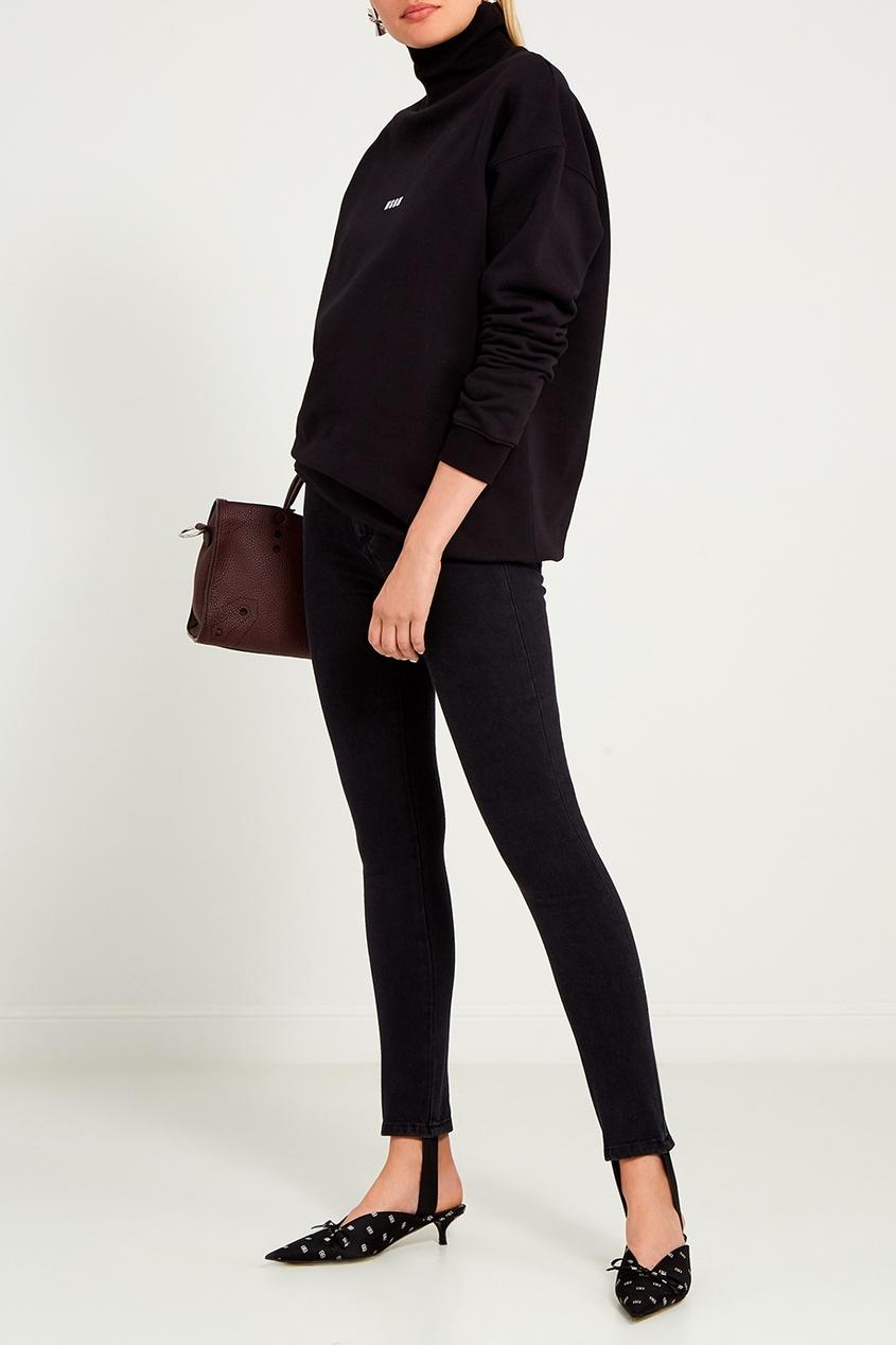 женские джинсы msgm, черные