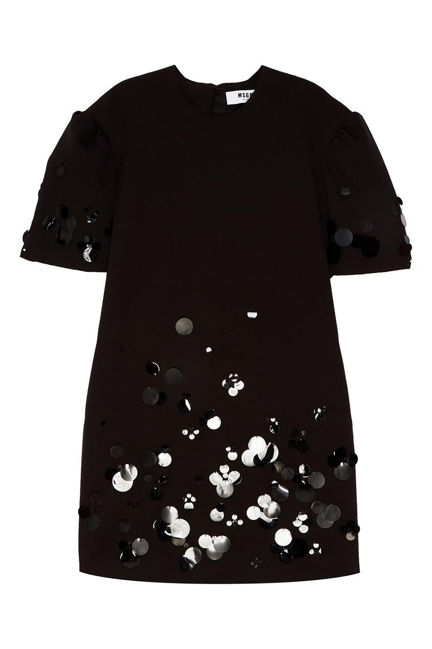 MSGM Мини-платье с вышивкой пайетками