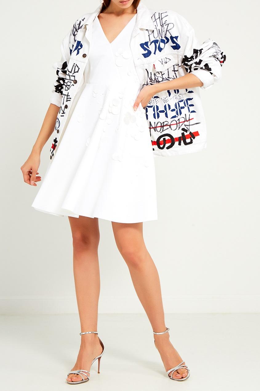 женское платье msgm, белое