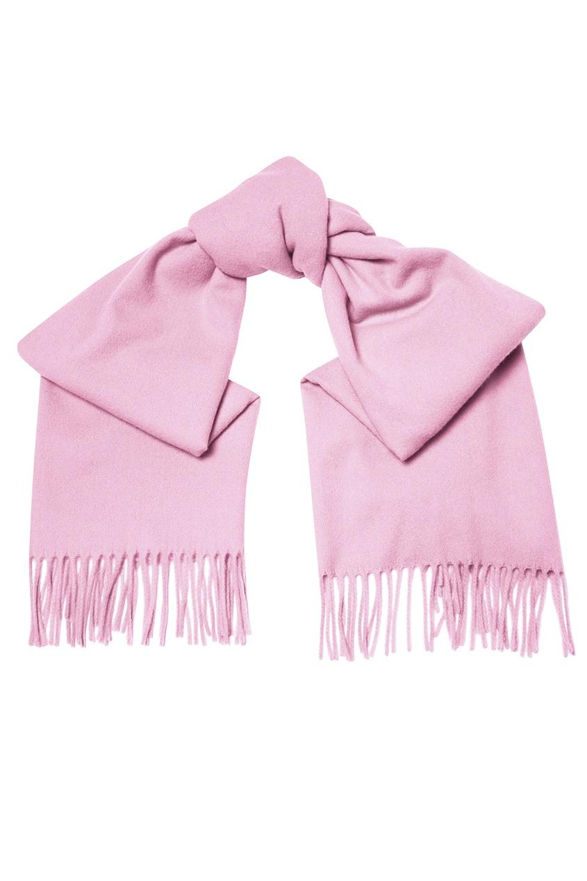 Сиреневый шерстяной шарф