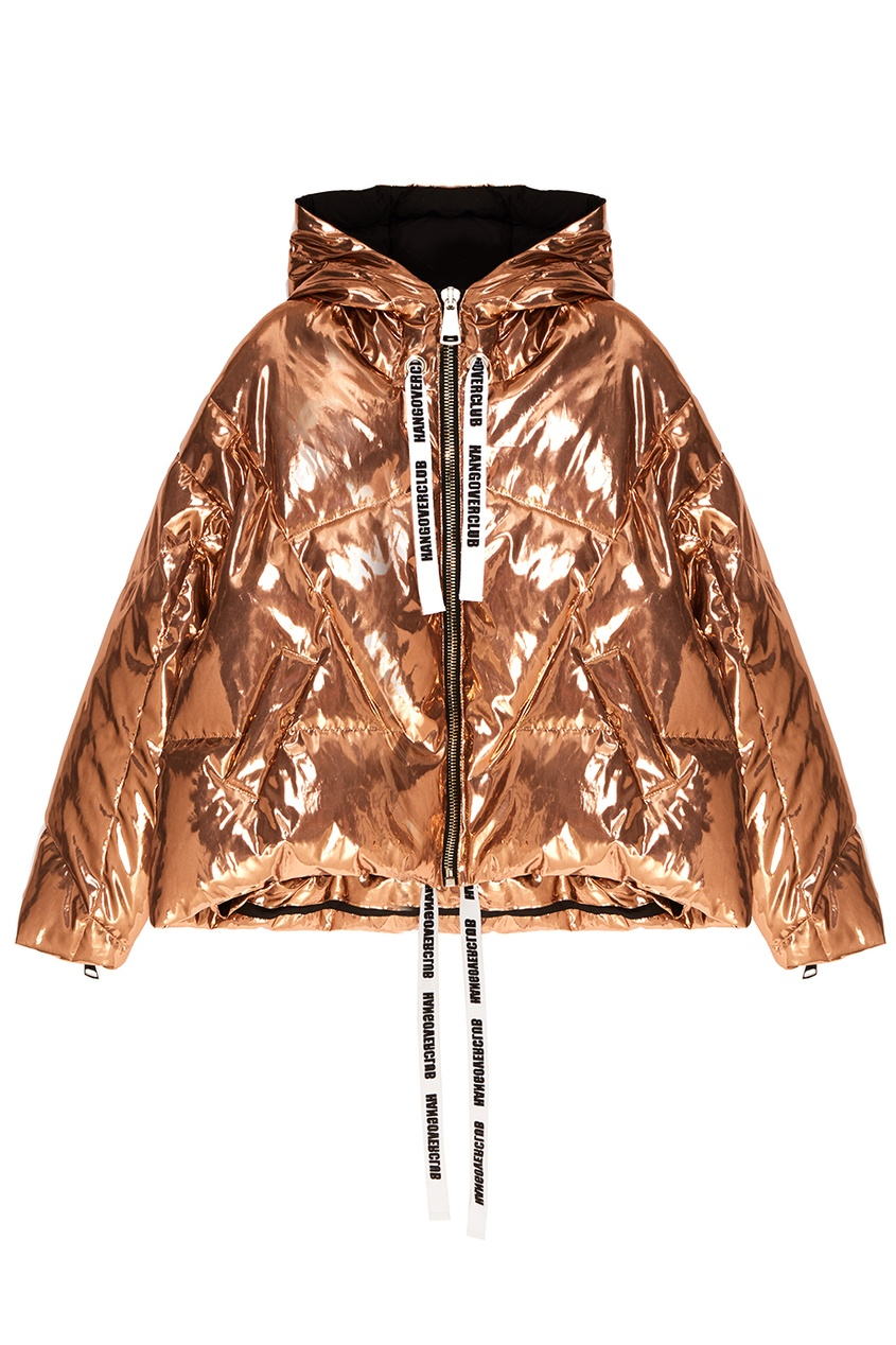 Золотистая зимняя куртка