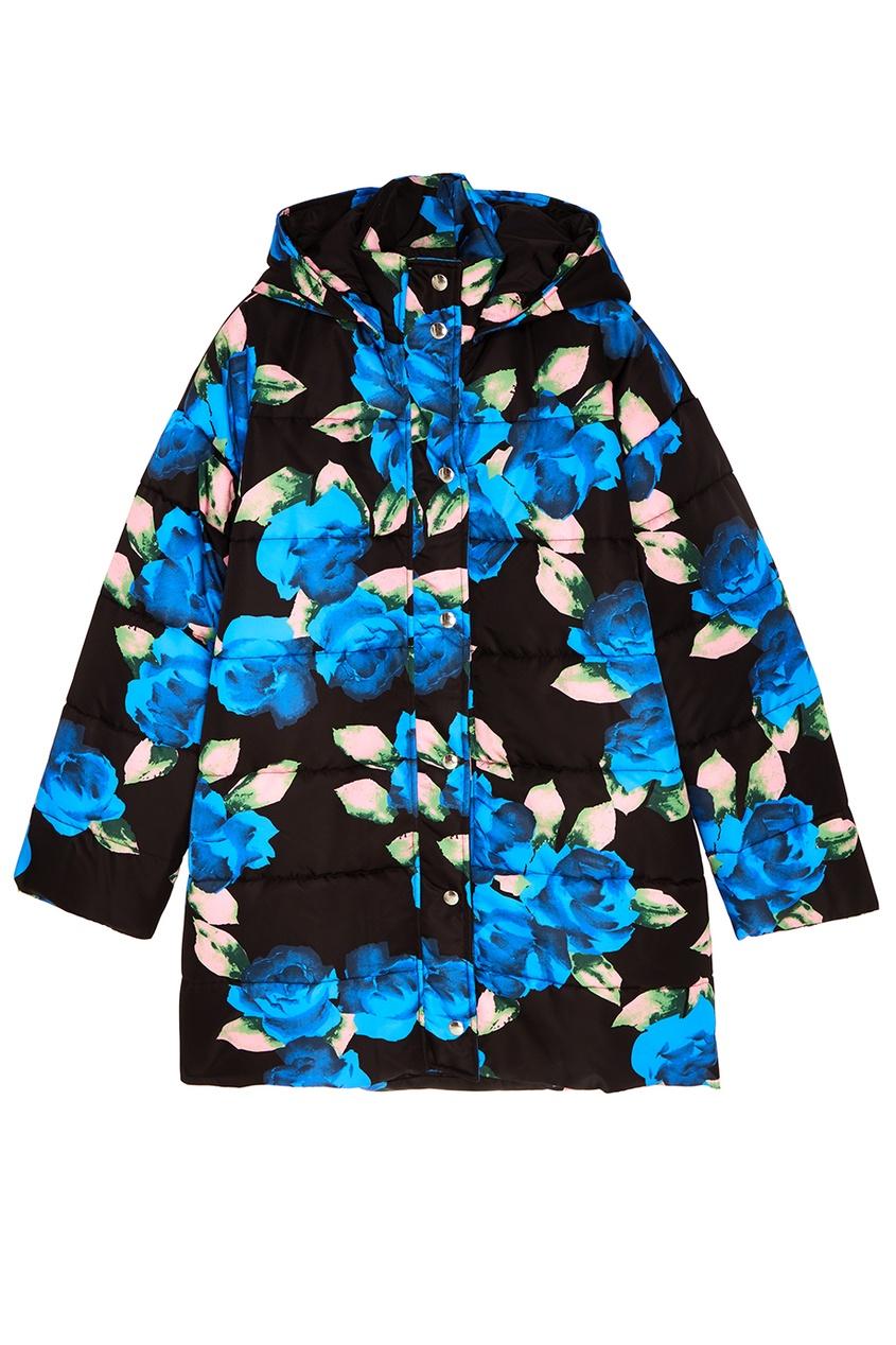 Стеганая куртка с цветочным принтом