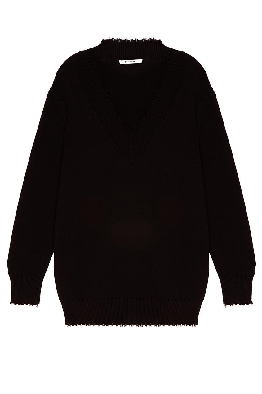 T by Alexander Wang Черный пуловер t by alexander wang легинсы