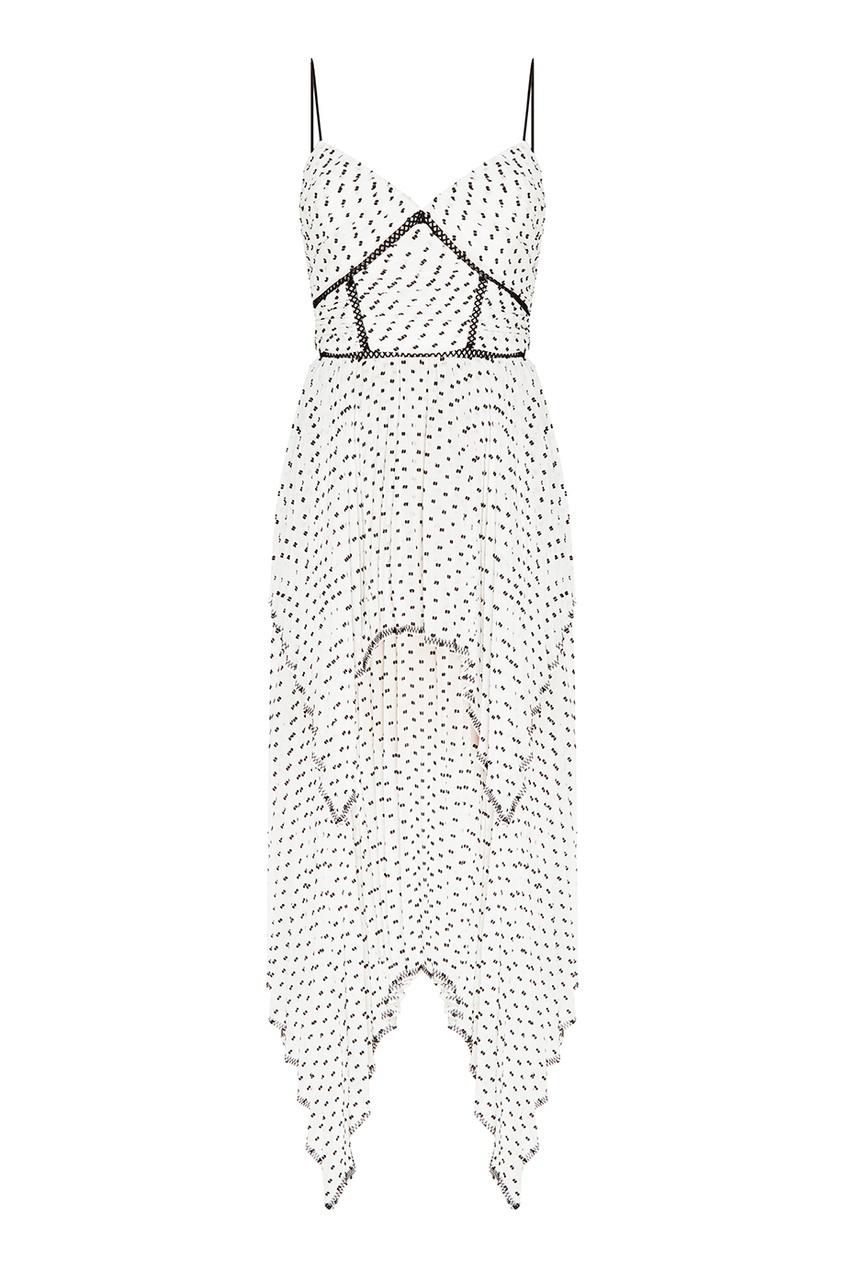 Self-Portrait Белое платье с контрастными точками
