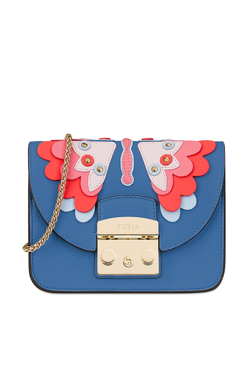 FURLA Кожаная сумка Metropolis Papillon papillon