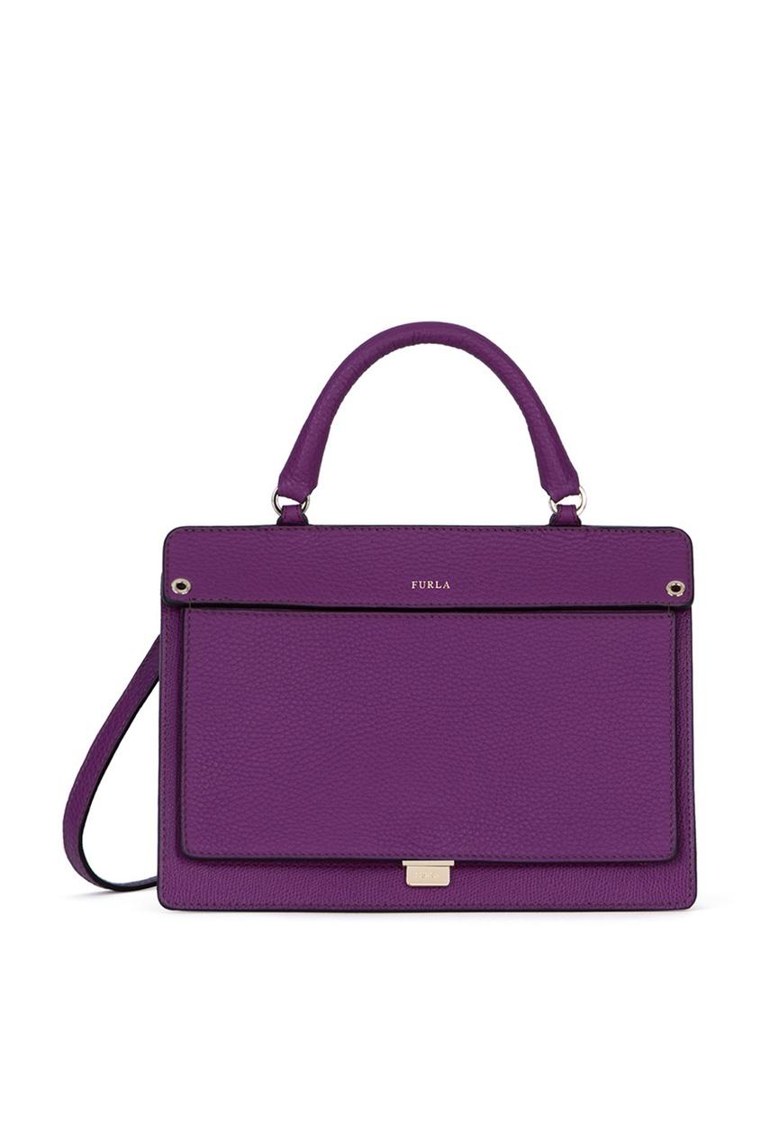 FURLA Фиолетовая кожаная сумка Like