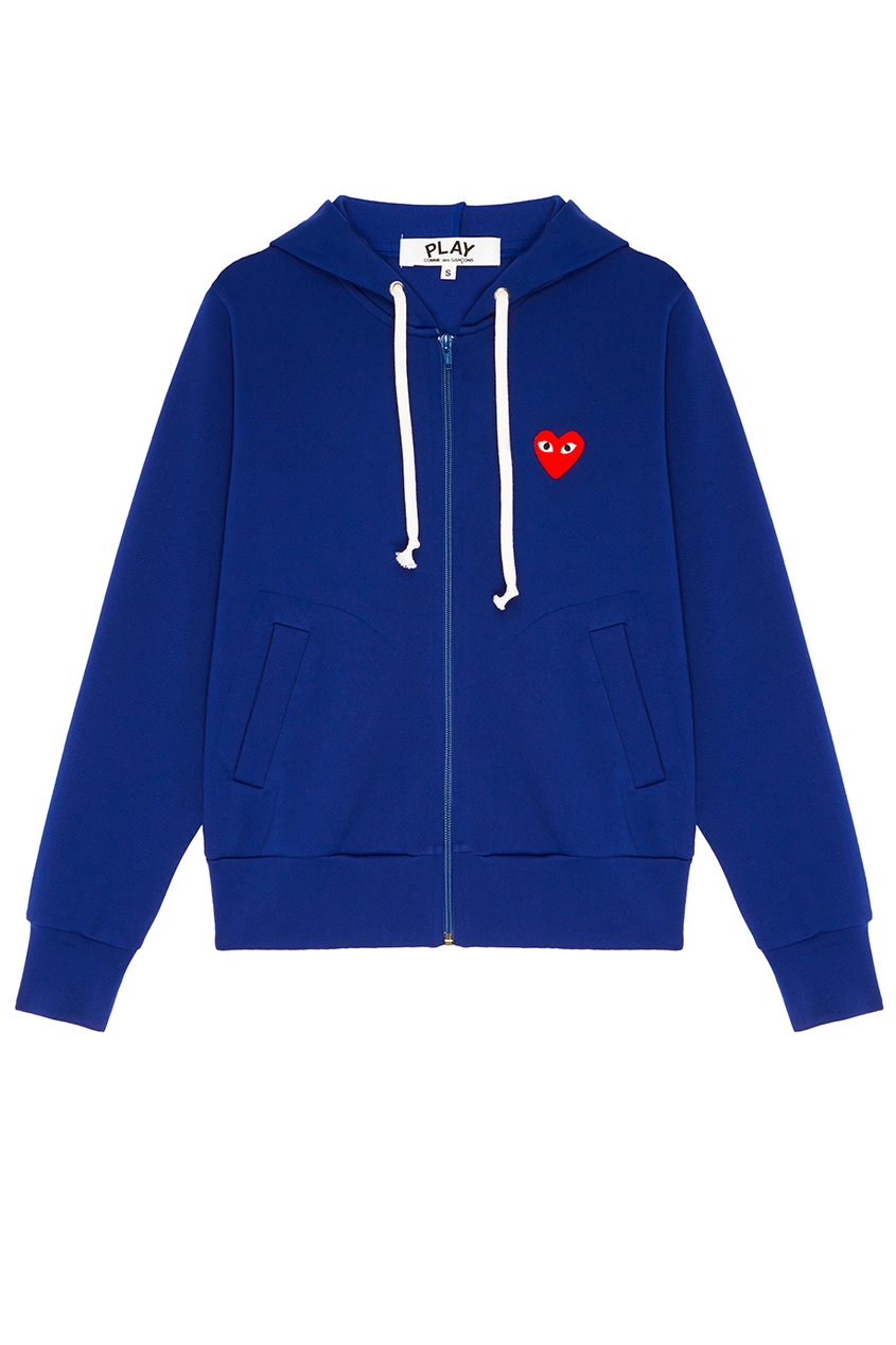 Comme des Garcons PLAY Синее худи с сердцем