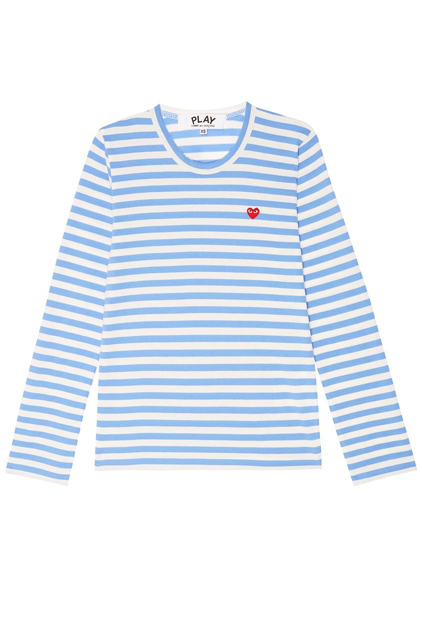 Хлопковая тельняшка в голубую полоску