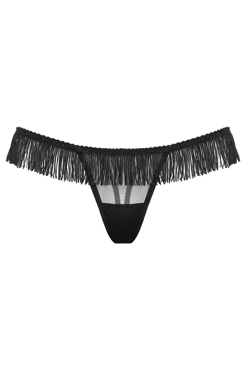 PETRA Черные стринги с бахромой Burlesque petra черные стринги odaliska