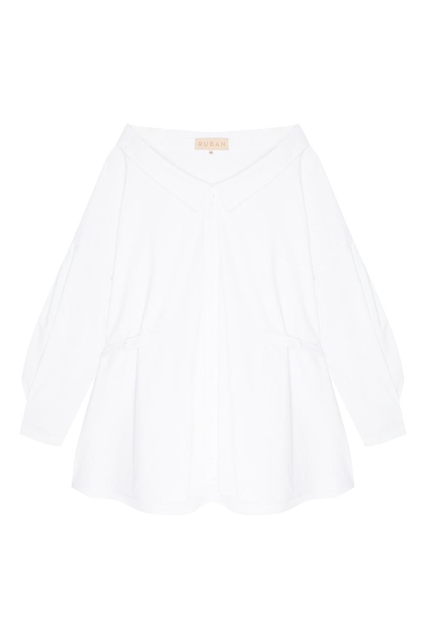 Купить со скидкой Белая хлопковая рубашка