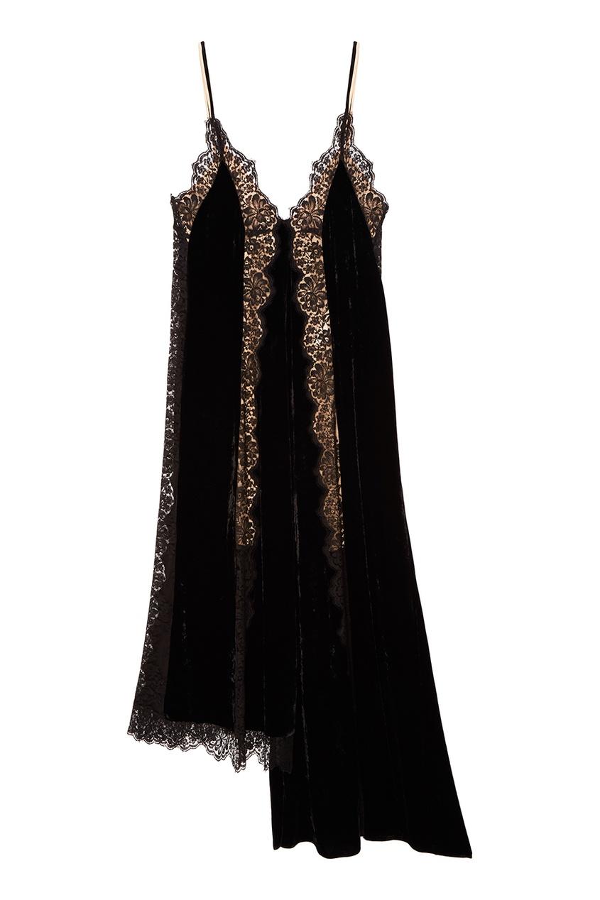 Stella McCartney Черное асимметричное платье stella mccartney белое асимметричное платье из хлопка