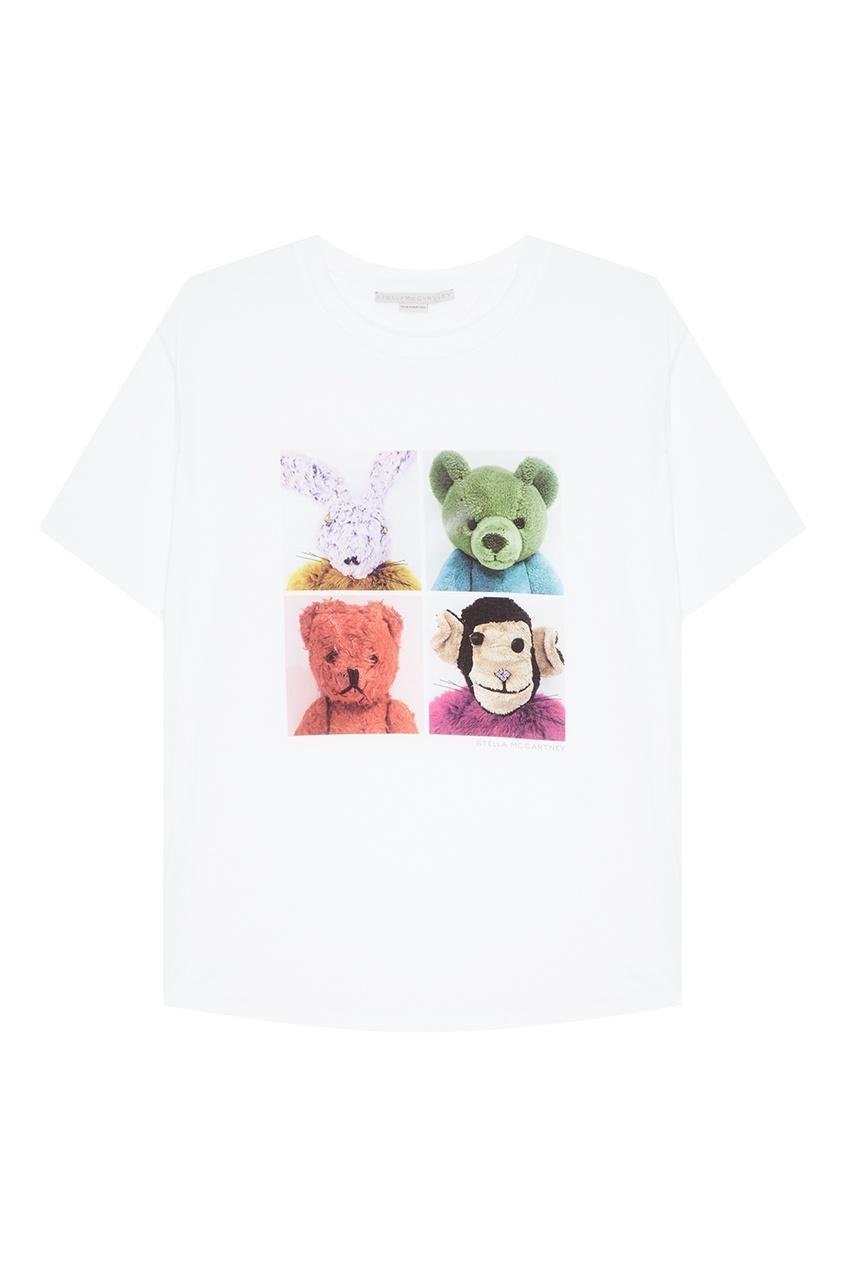 Stella McCartney Белая футболка с фотопринтом stella mccartney белая футболка со звездами