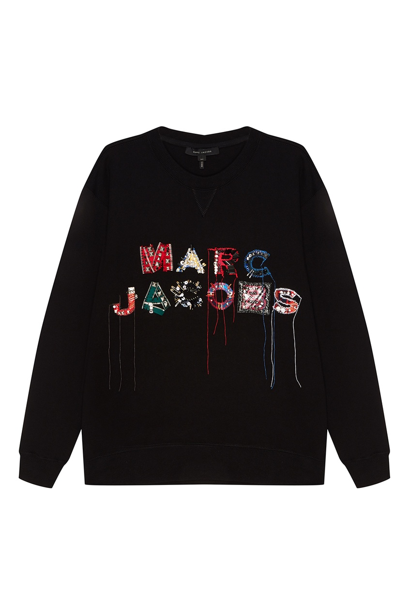 женский свитшот marc jacobs, черный