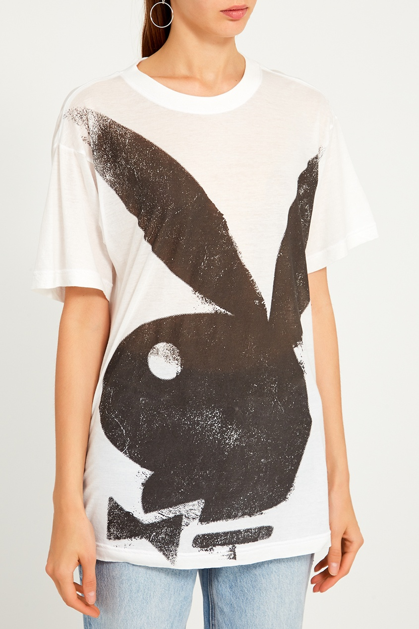 женская футболка marc jacobs, белая