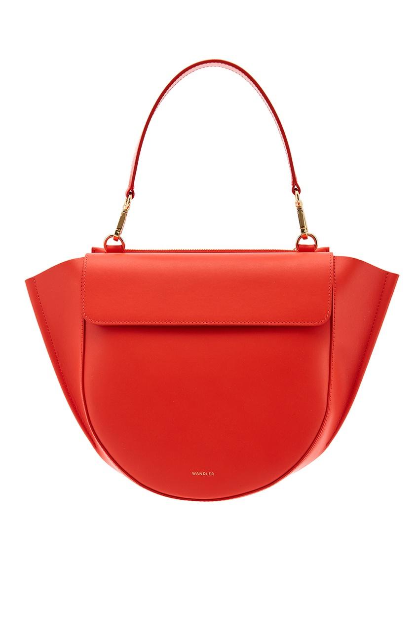 Красная кожаная сумка Hortensia Medium Orange Wandler