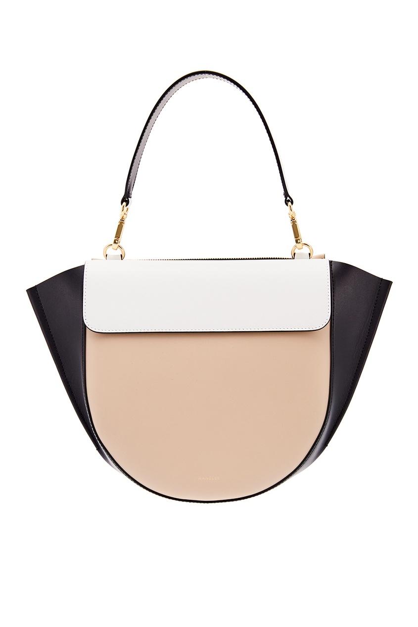 Кожаная сумка Hortensia Medium Sand Shades