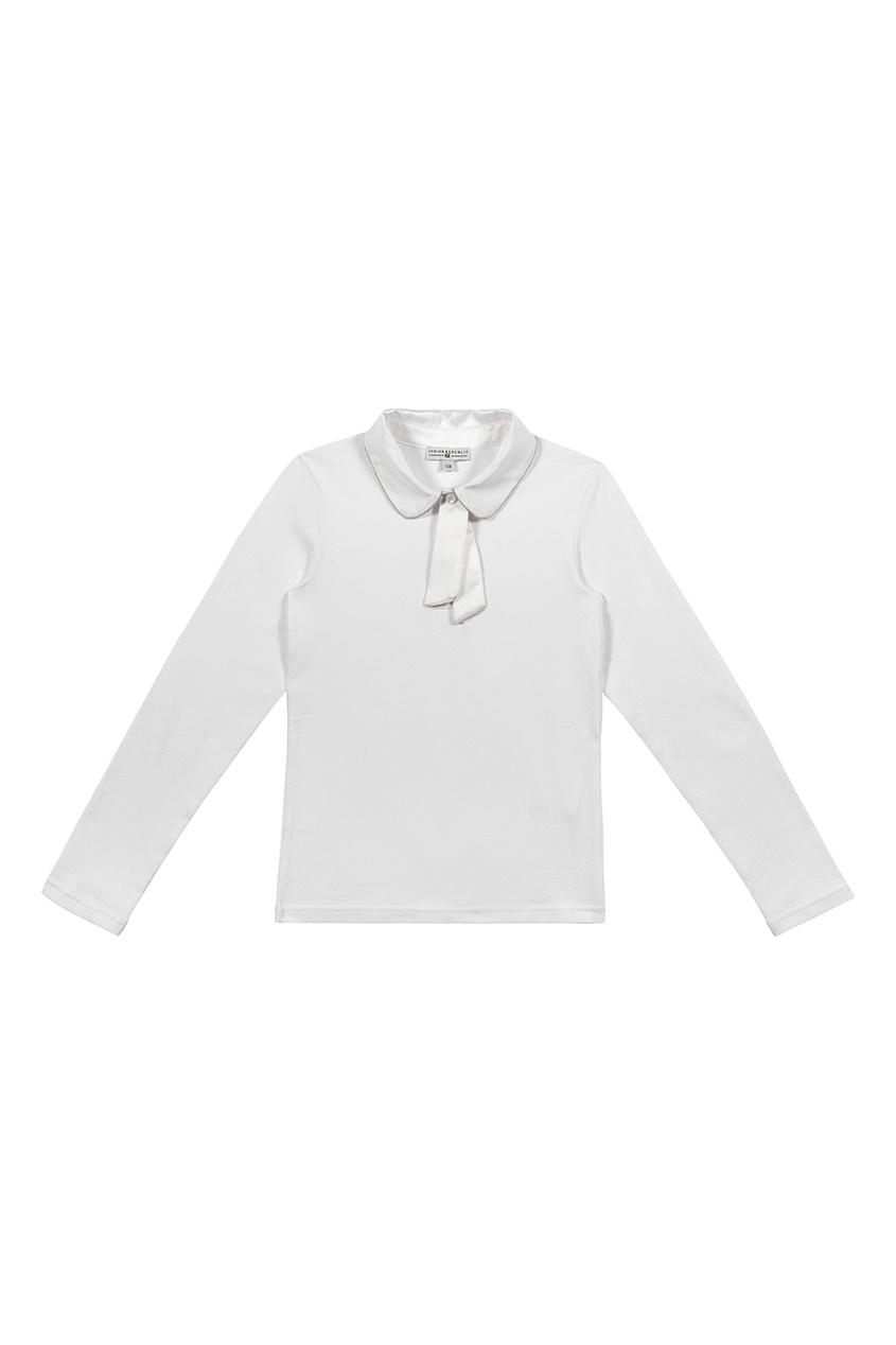 Junior Republic Белая блузка с атласным воротником блузка детская junior republic блузка для девочки белая
