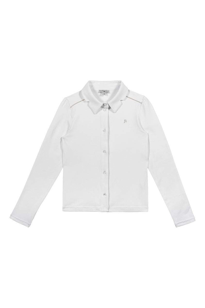 Junior Republic Трикотажная блузка на пуговицах блузка детская junior republic блузка для девочки белая
