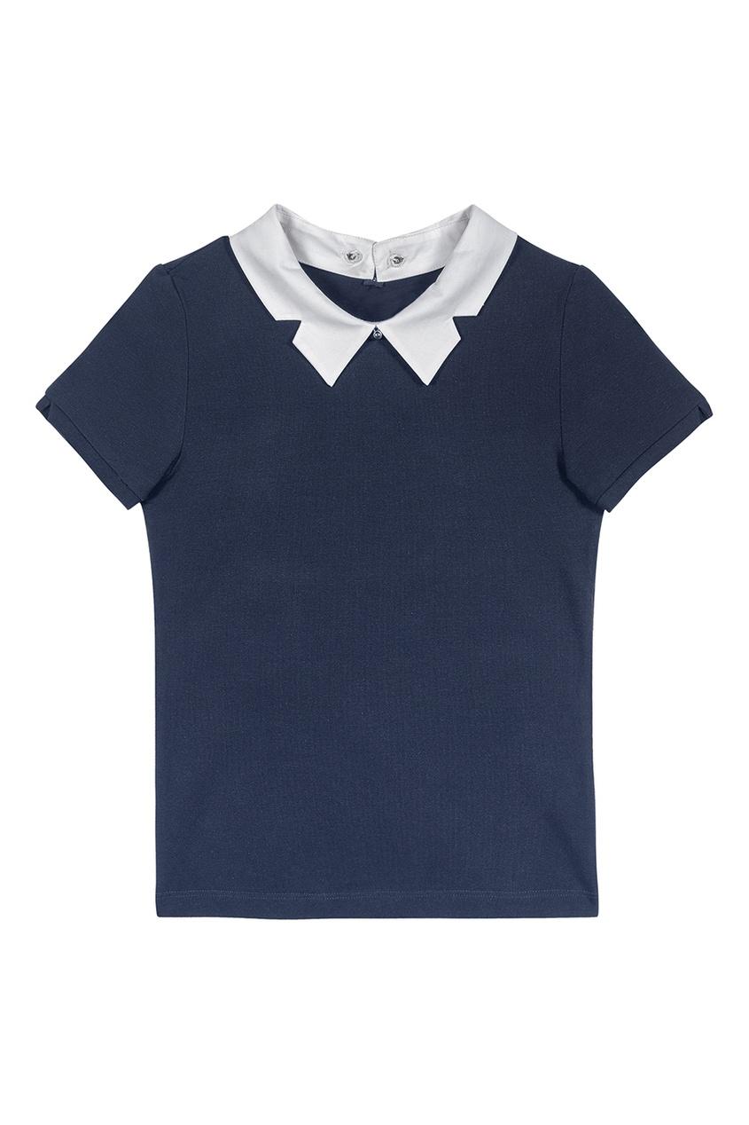 Junior Republic Синяя блузка  короткими рукавами