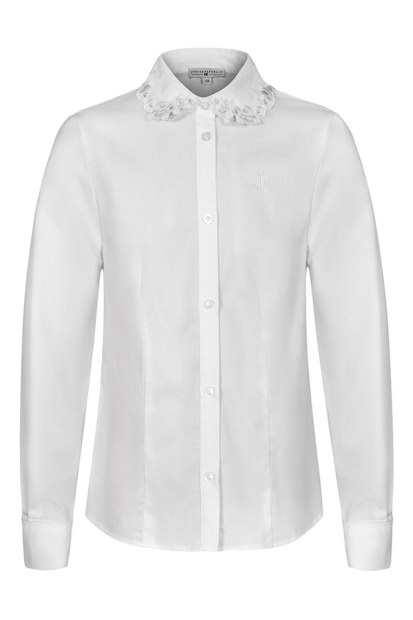 Junior Republic Белая блузка с ажурным воротником