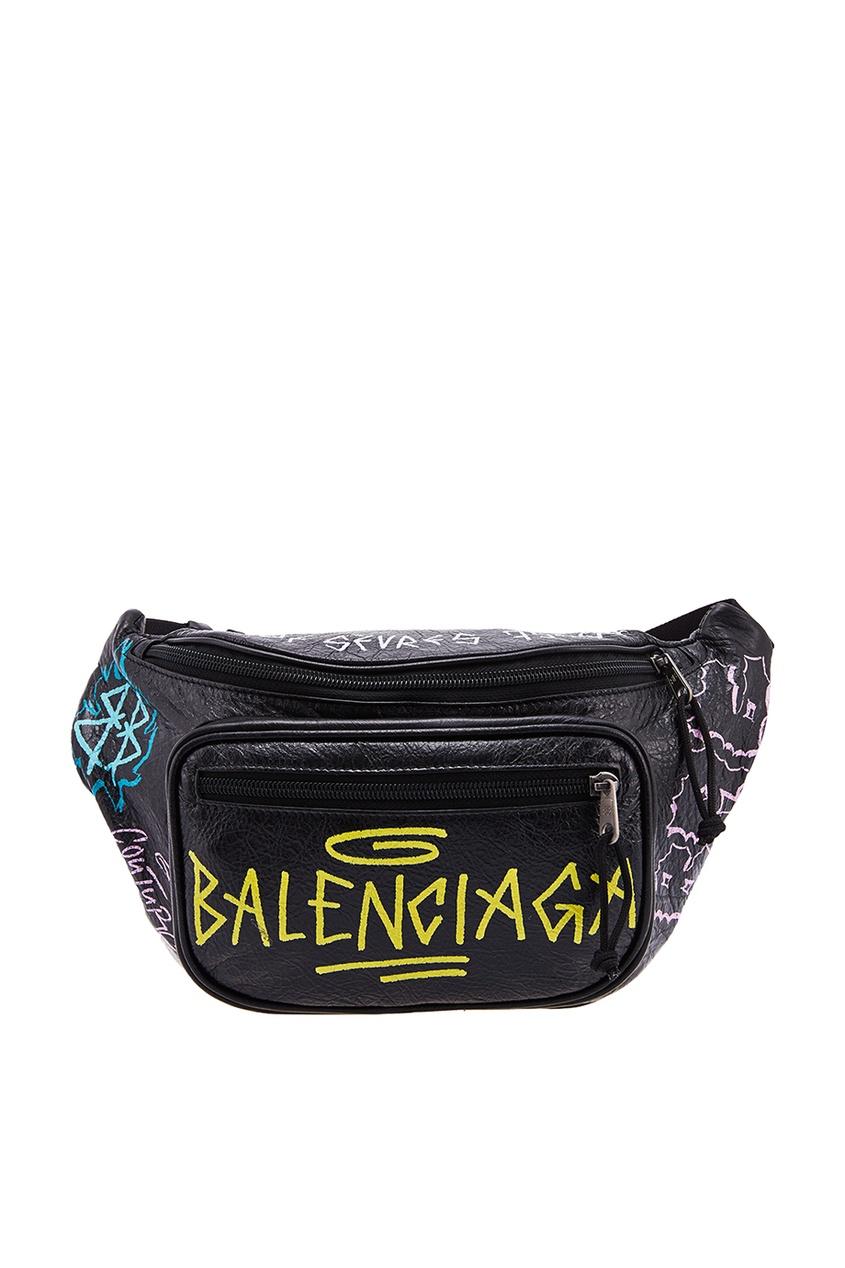 Черная сумка с логотипом Balenciaga