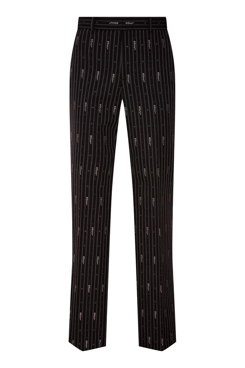 Черные брюки в полоску от Gucci