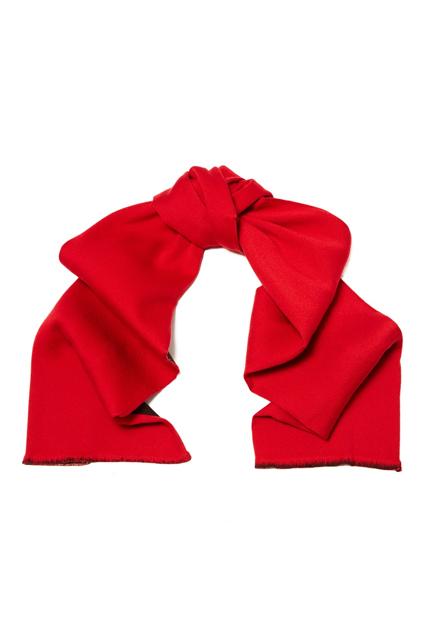 Gucci Красно-коричневый шарф gucci повязка из сетки с монограммами