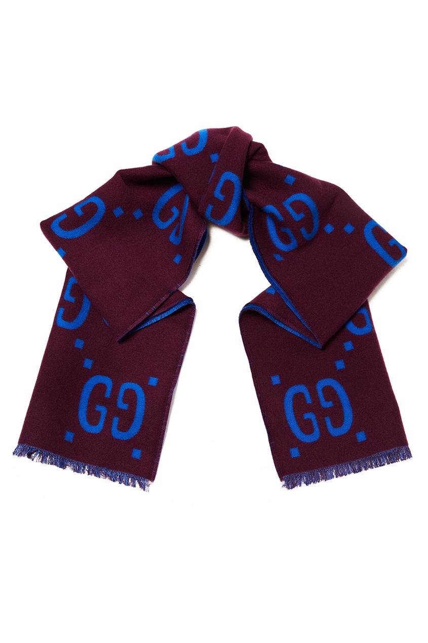 Двухсторонний шарф с логотипами