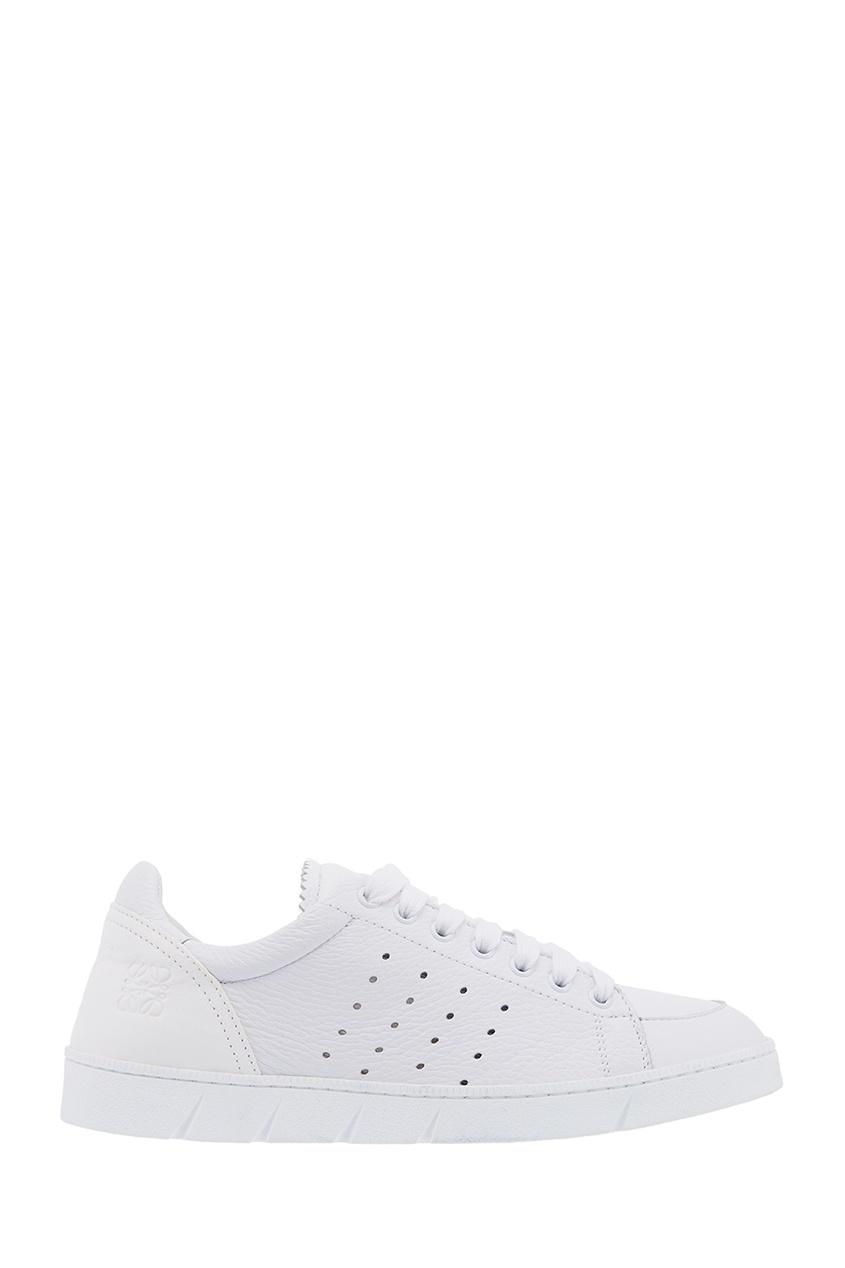 Белые кроссовки из кожи