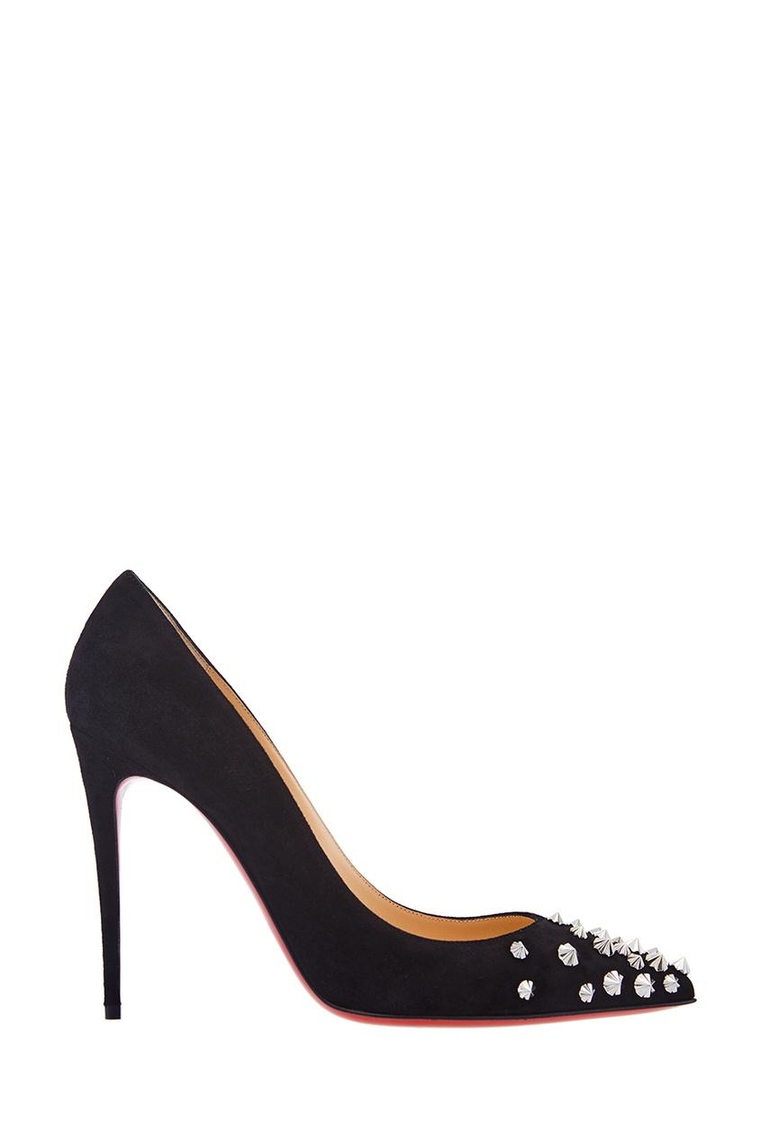 Замшевые туфли с шипами Drama Pump 100 от Christian Louboutin