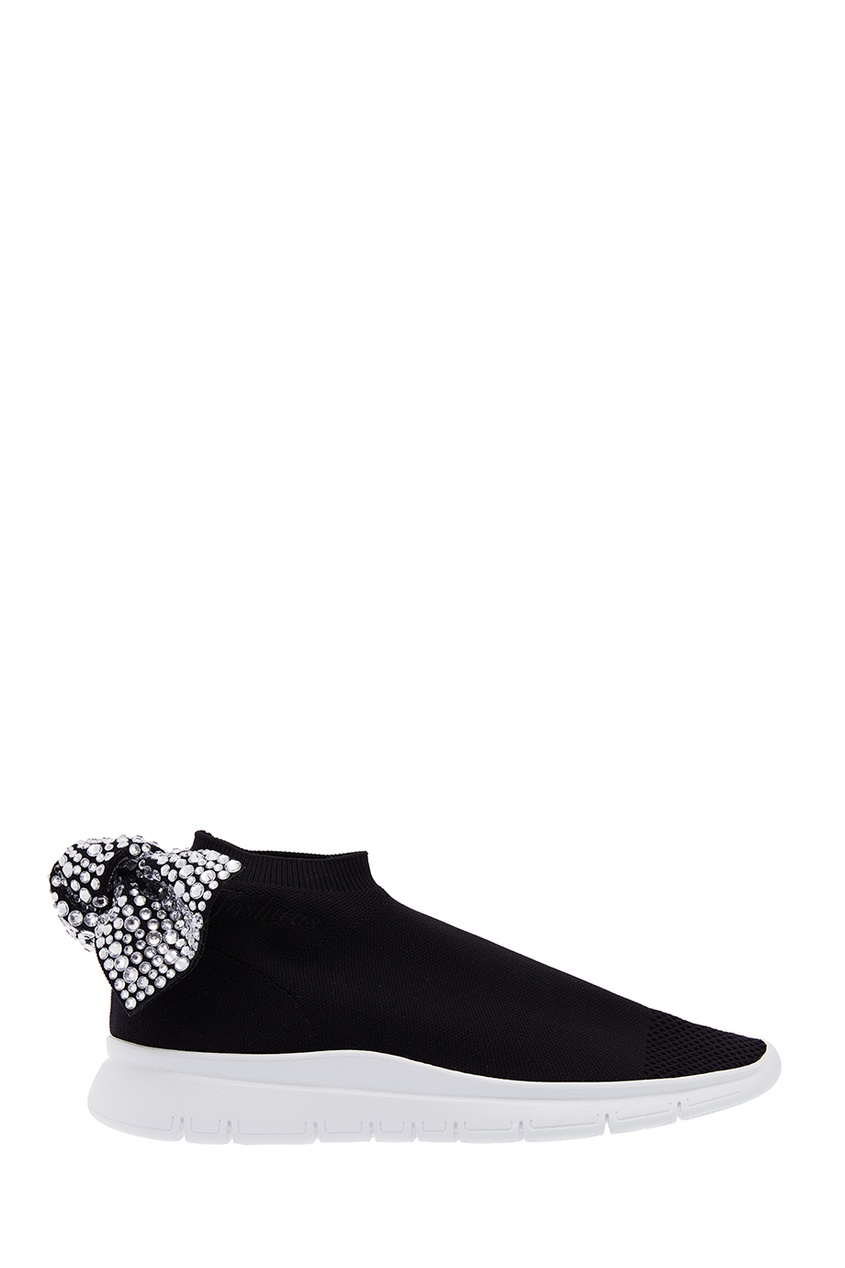 Joshua Sanders Черные текстильные кроссовки Diamond joshua sanders сандалии из денима