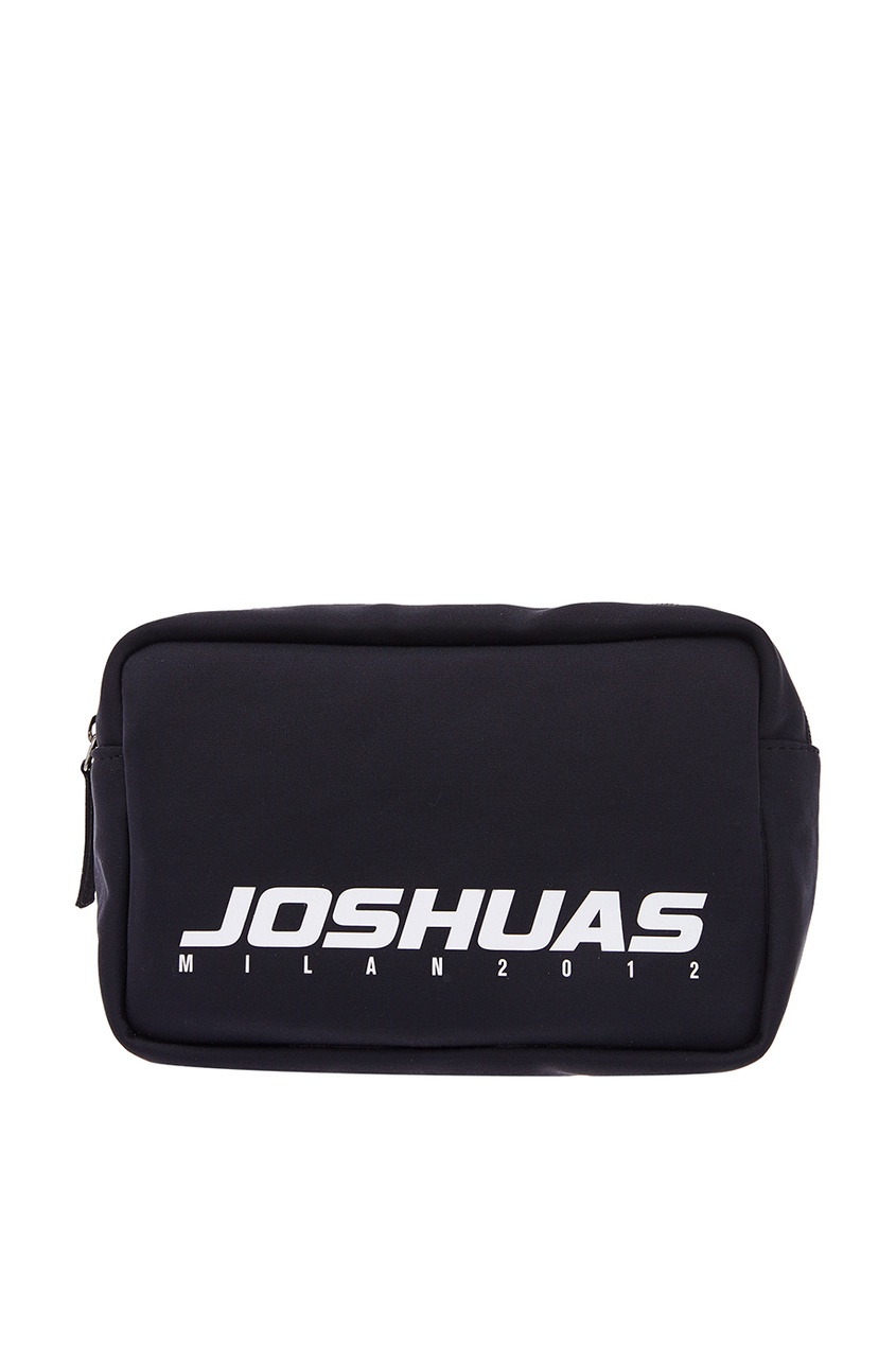 Купить со скидкой Черная поясная сумка с логотипом