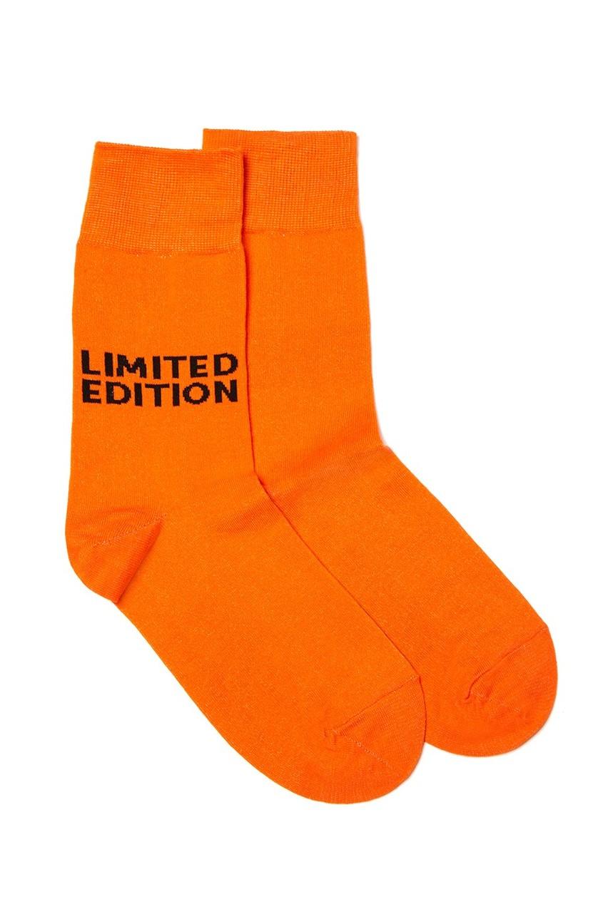 Оранжевые носки с логотипом