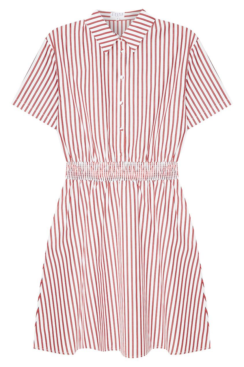 Claudie Pierlot Платье-рубашка в полоску платье рубашка в полоску dynastie