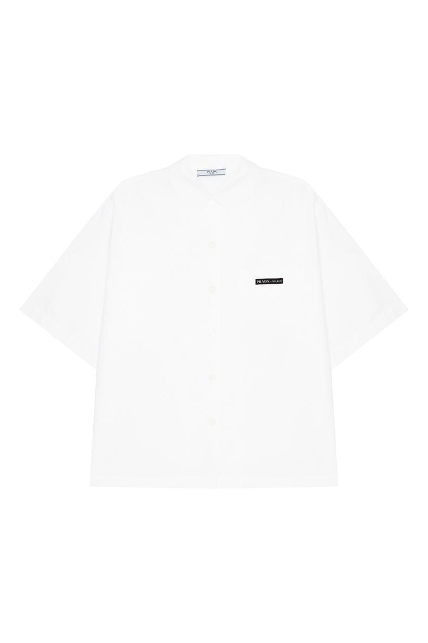 женская рубашка prada, белая
