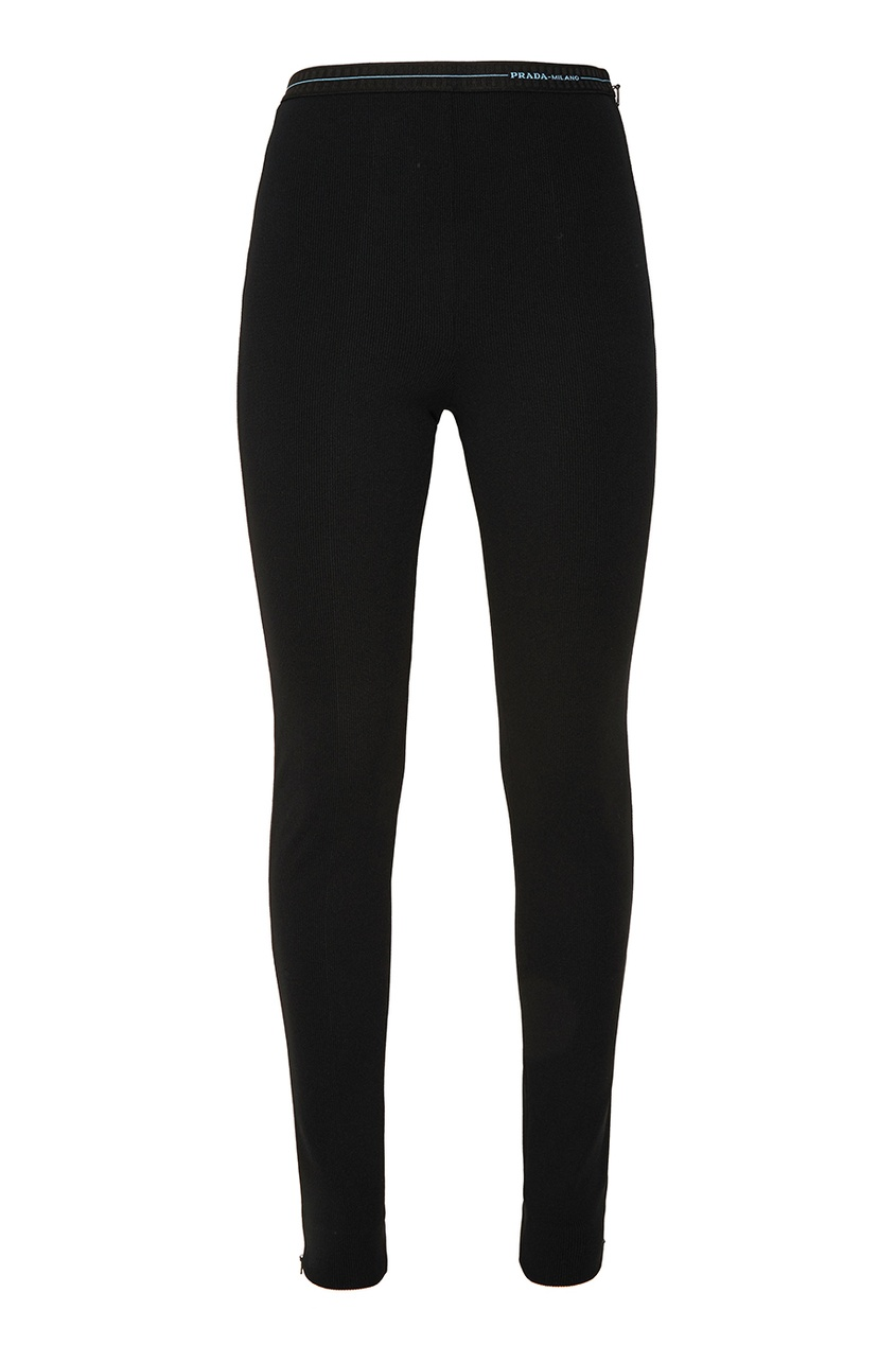Купить со скидкой Черные трикотажные брюки