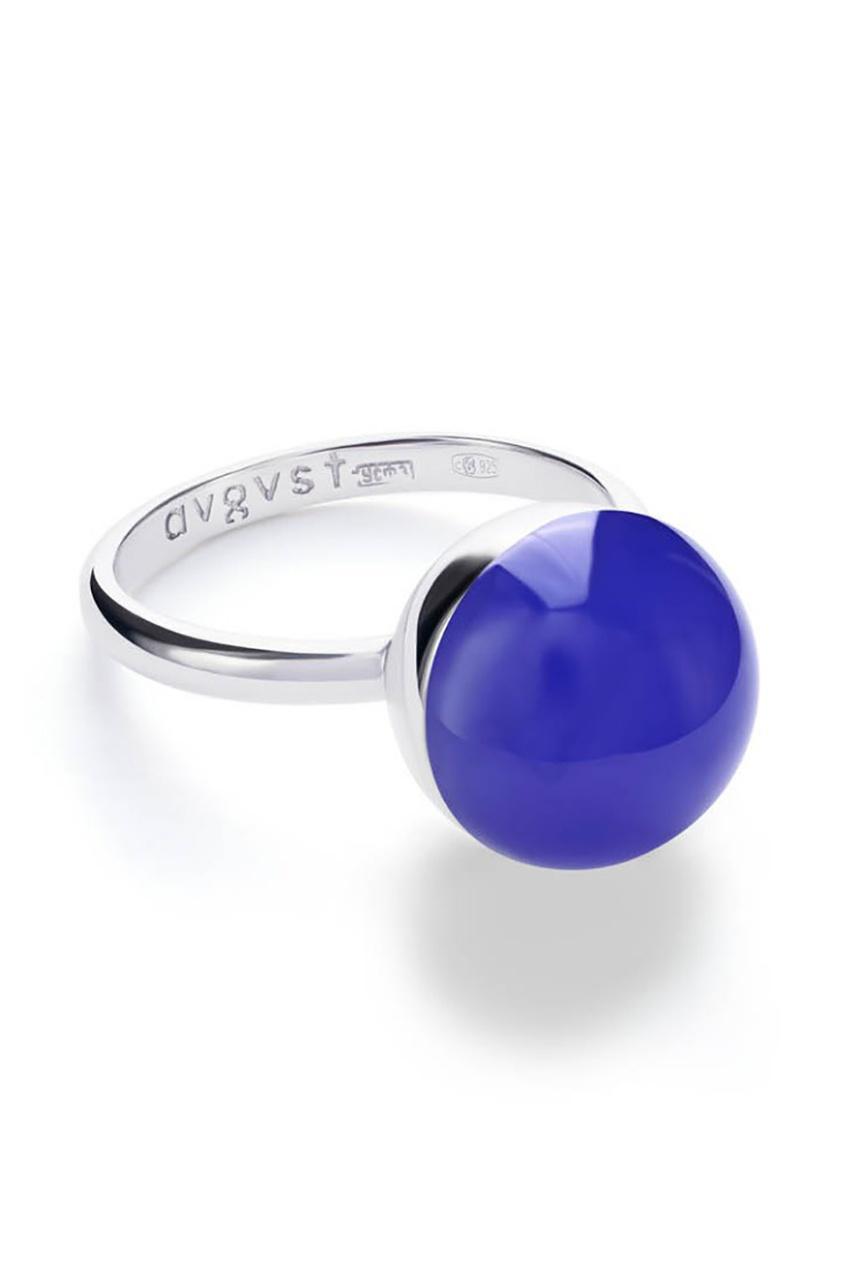 Купить Кольцо с халцедоном от AVGVST by NATALIA BRYANTSEVA синего цвета