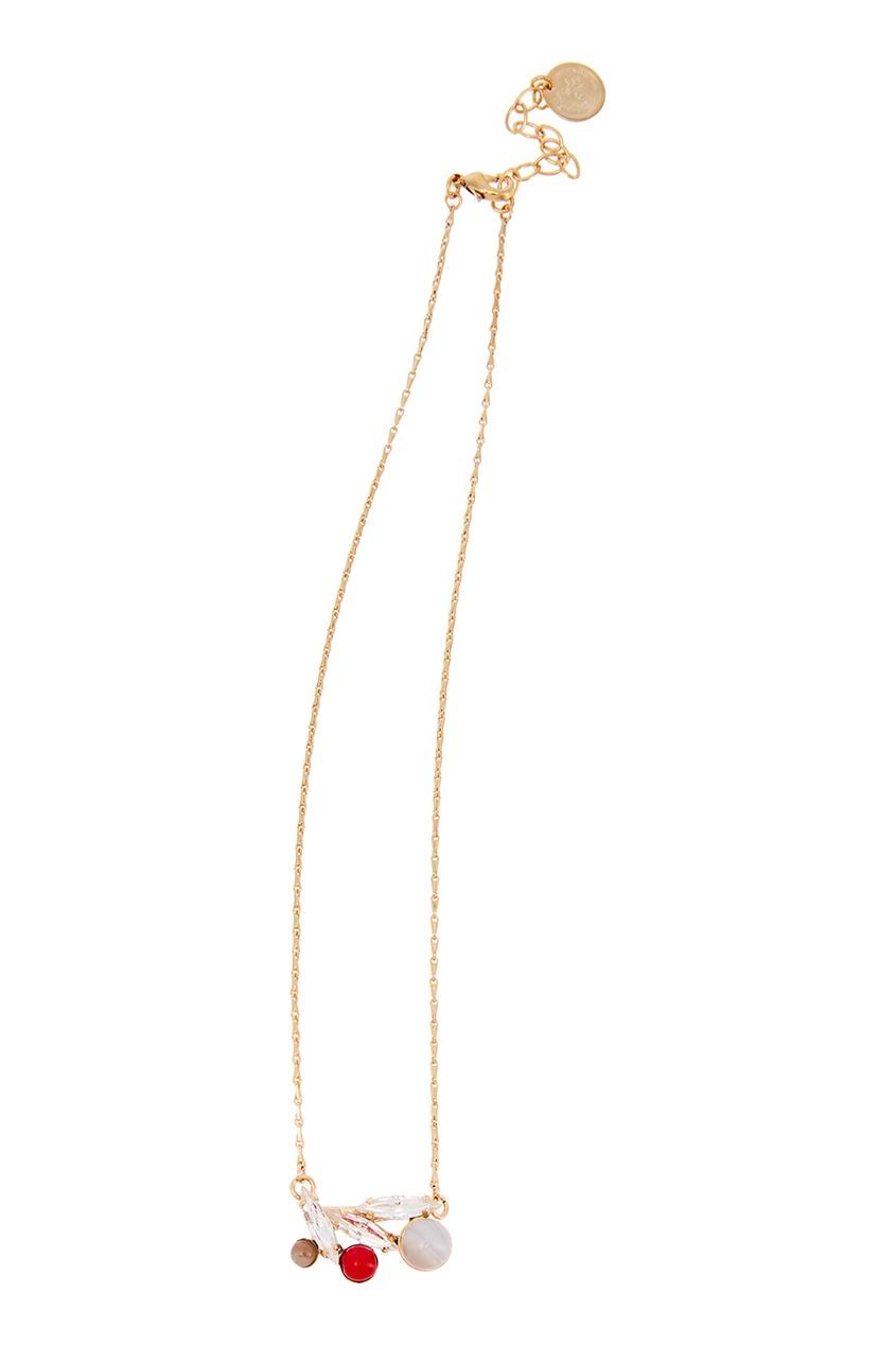 Anton Heunis Колье с цветной подвеской колье marina kalashnikova колье из агата кошачьего глаза цирконов позолоченная фурнитура