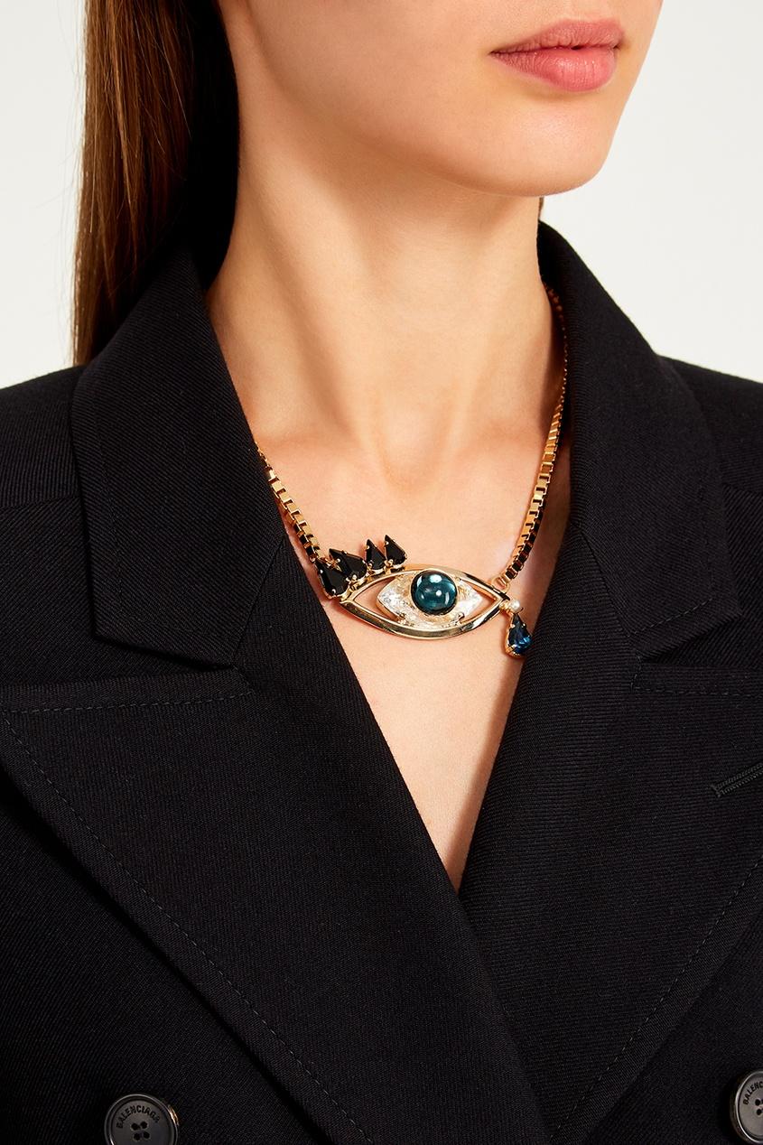 Позолоченное ожерелье с подвеской от Anton Heunis