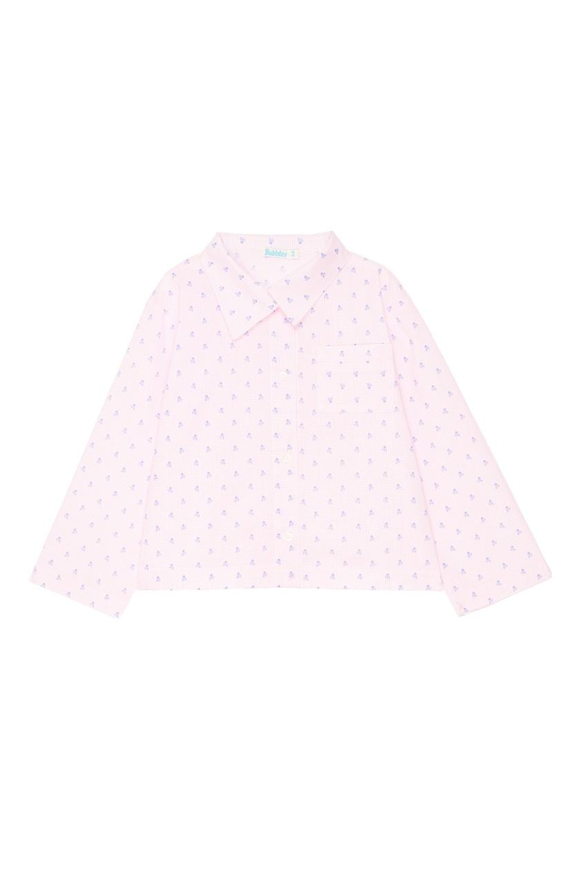 Розовая пижама с принтом