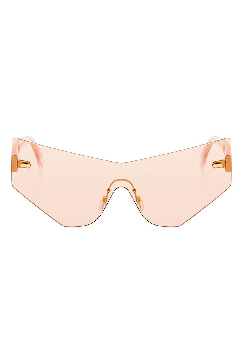 Розовые солнцезащитные очки Fakoshima x Outlaw Moscow