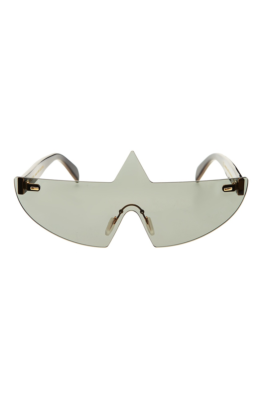Черные солнцезащитные очки с фигурной деталью