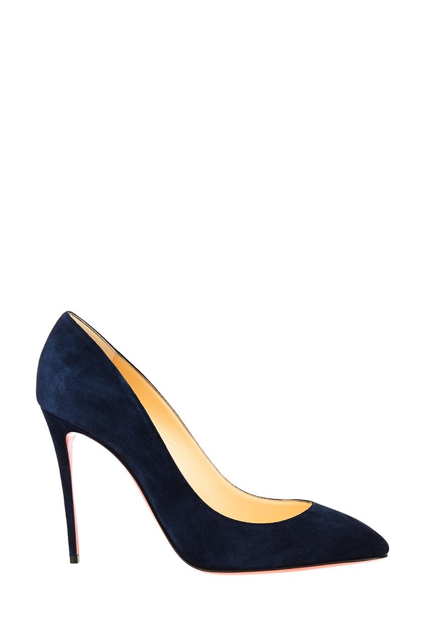 Синие замшевые туфли Eloise 100 от Christian Louboutin