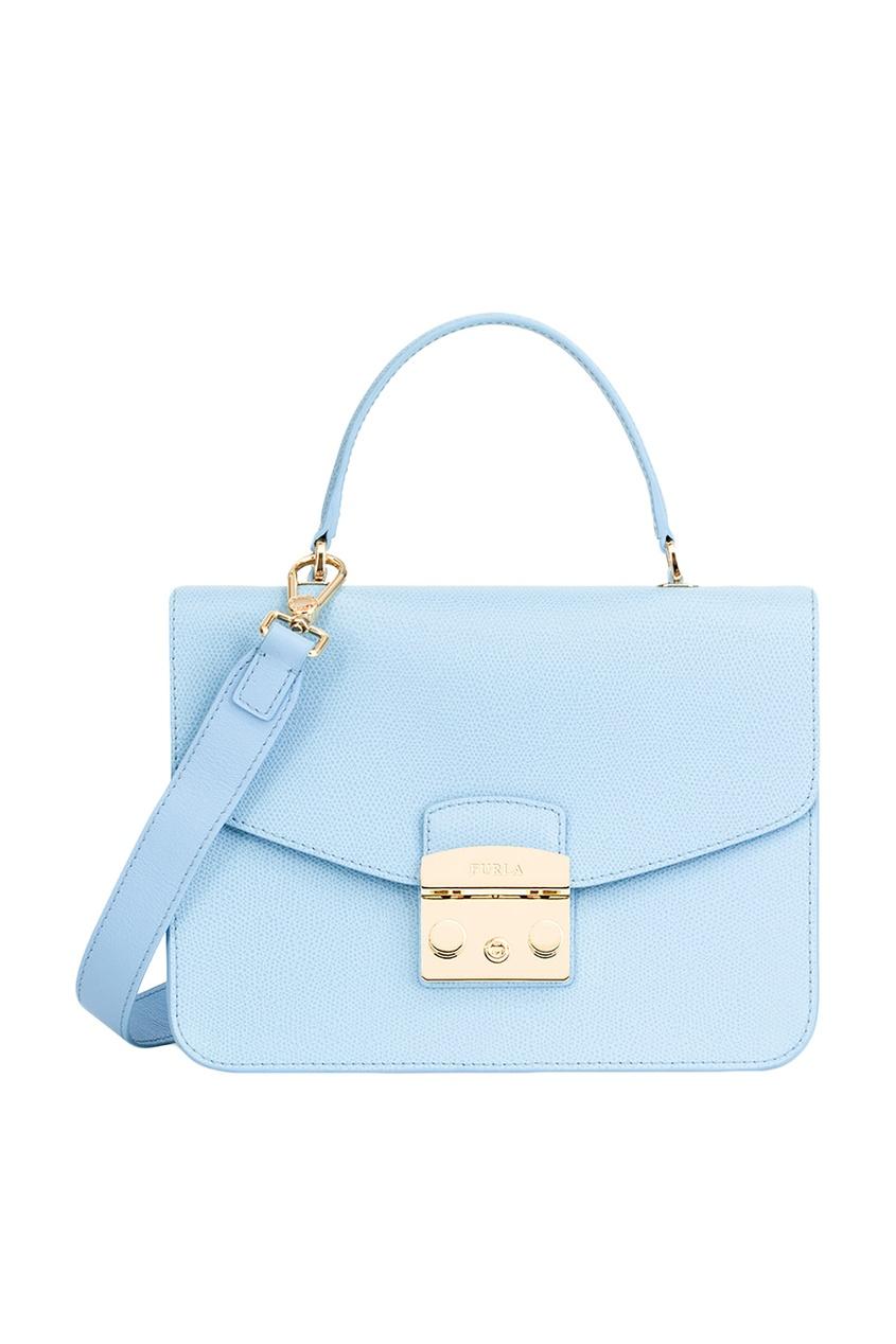 FURLA Голубая сумка Metropolis furla сумка с павлинами metropolis